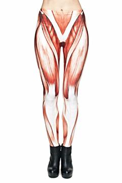 Zohara Muscle Graphic Leggings - Product List Image
