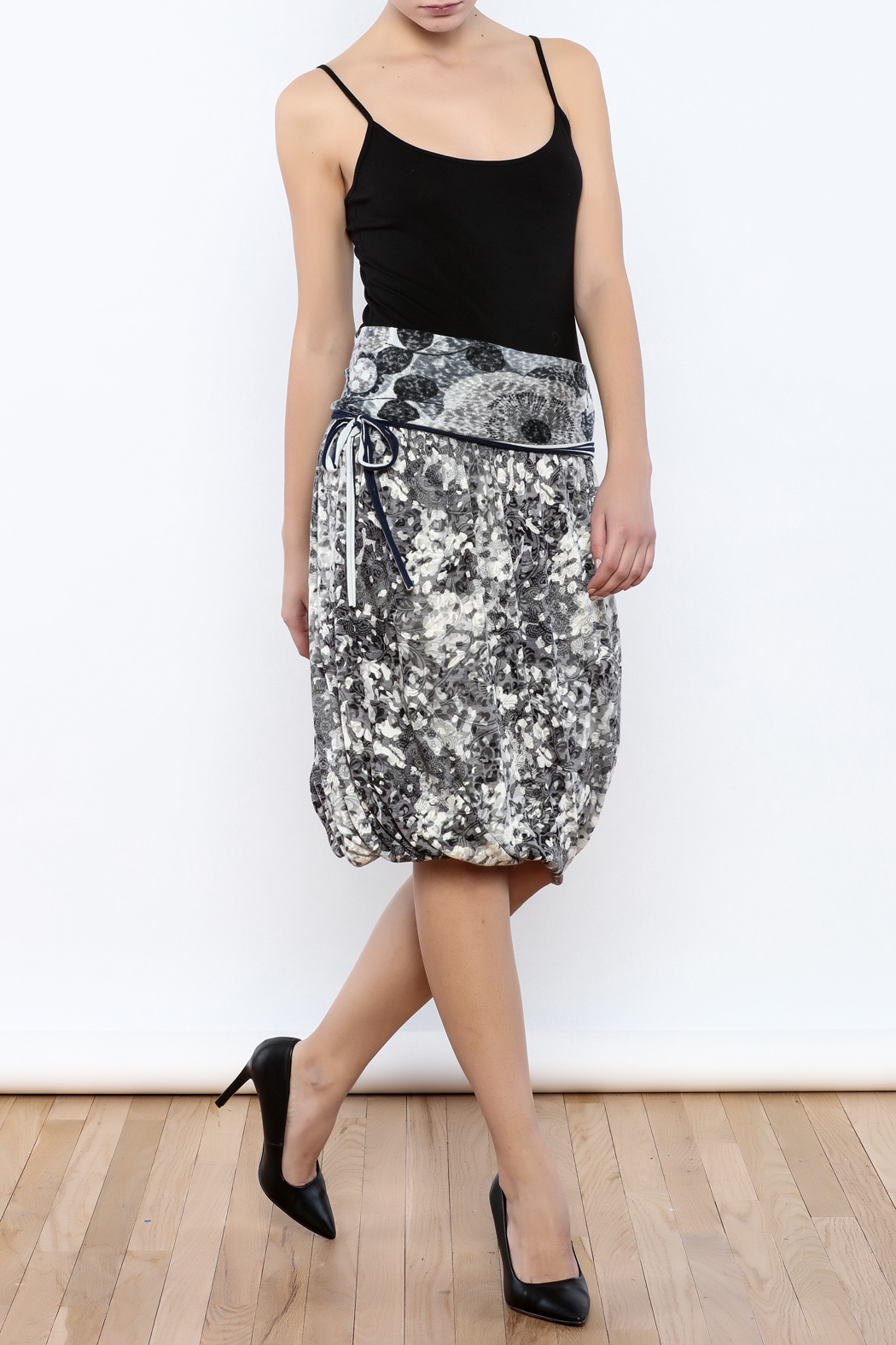 Zoology Print Bubble Skirt - Front Full Image