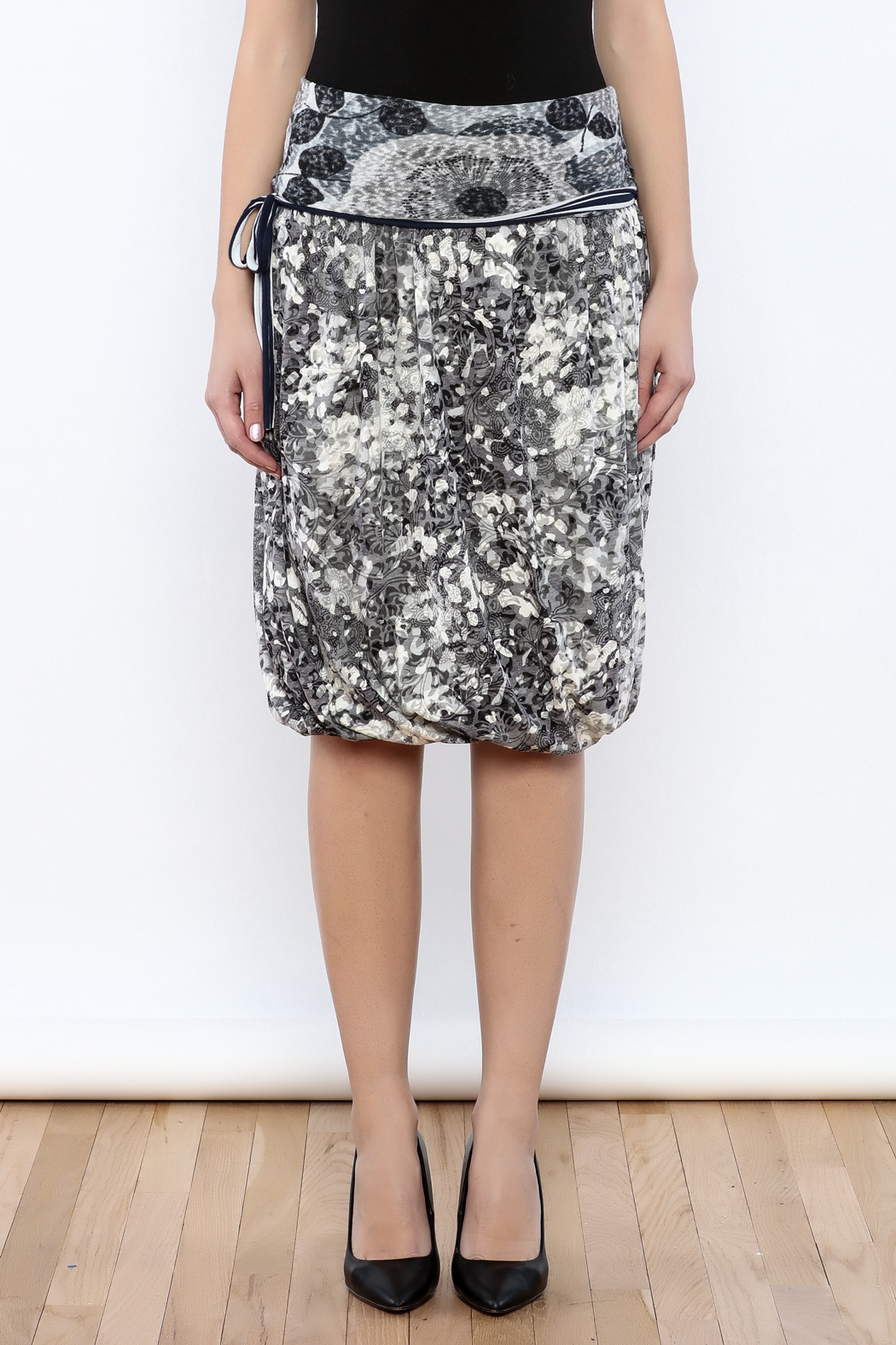 Zoology Print Bubble Skirt - Side Cropped Image