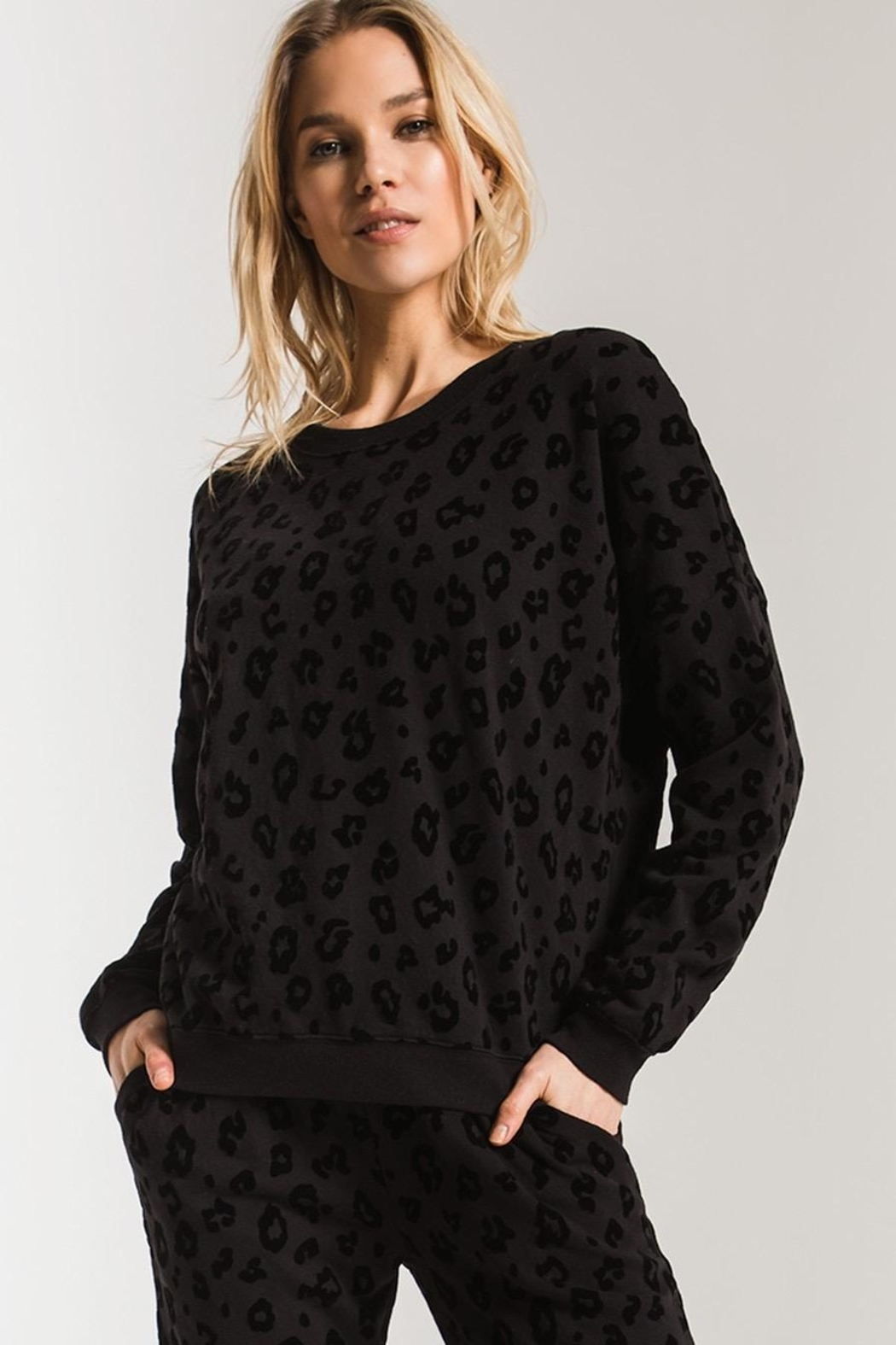 Zsupply Animal Flocked Pullover - Back Cropped Image