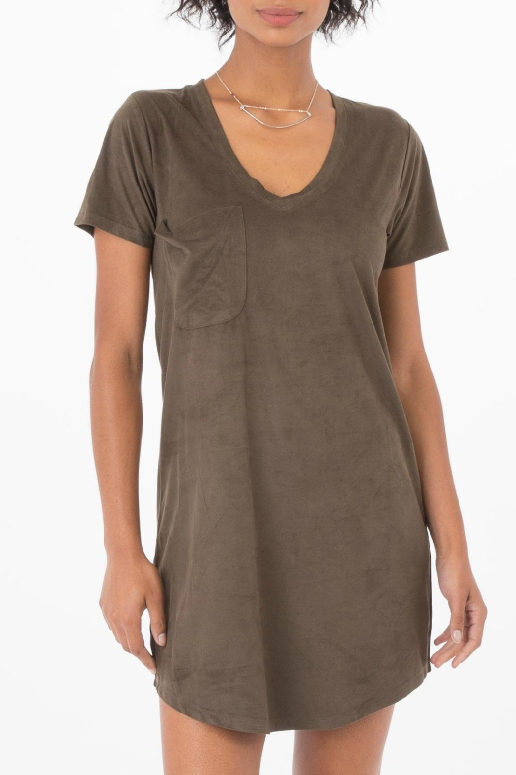 Zsupply Green T Shirt Dress - Front Cropped Image