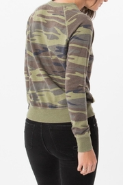 z supply Camo Crew Pullover Top - Front full body