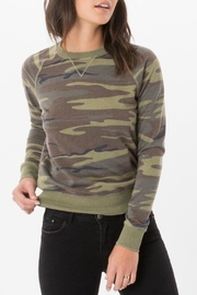 z supply Camo Crew Pullover Top - Front cropped