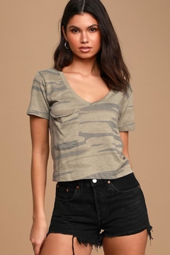 Zsupply Camo Crop Tee - Product List Image