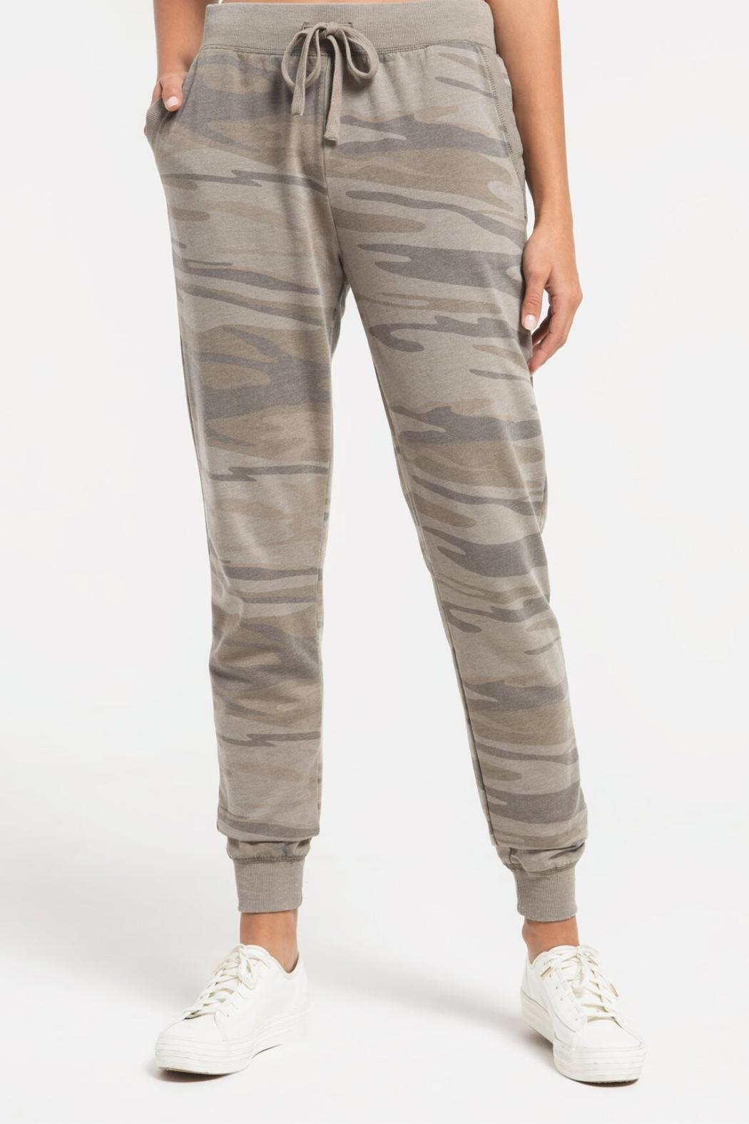 Zsupply Camo Pants, Light-Sage - Back Cropped Image