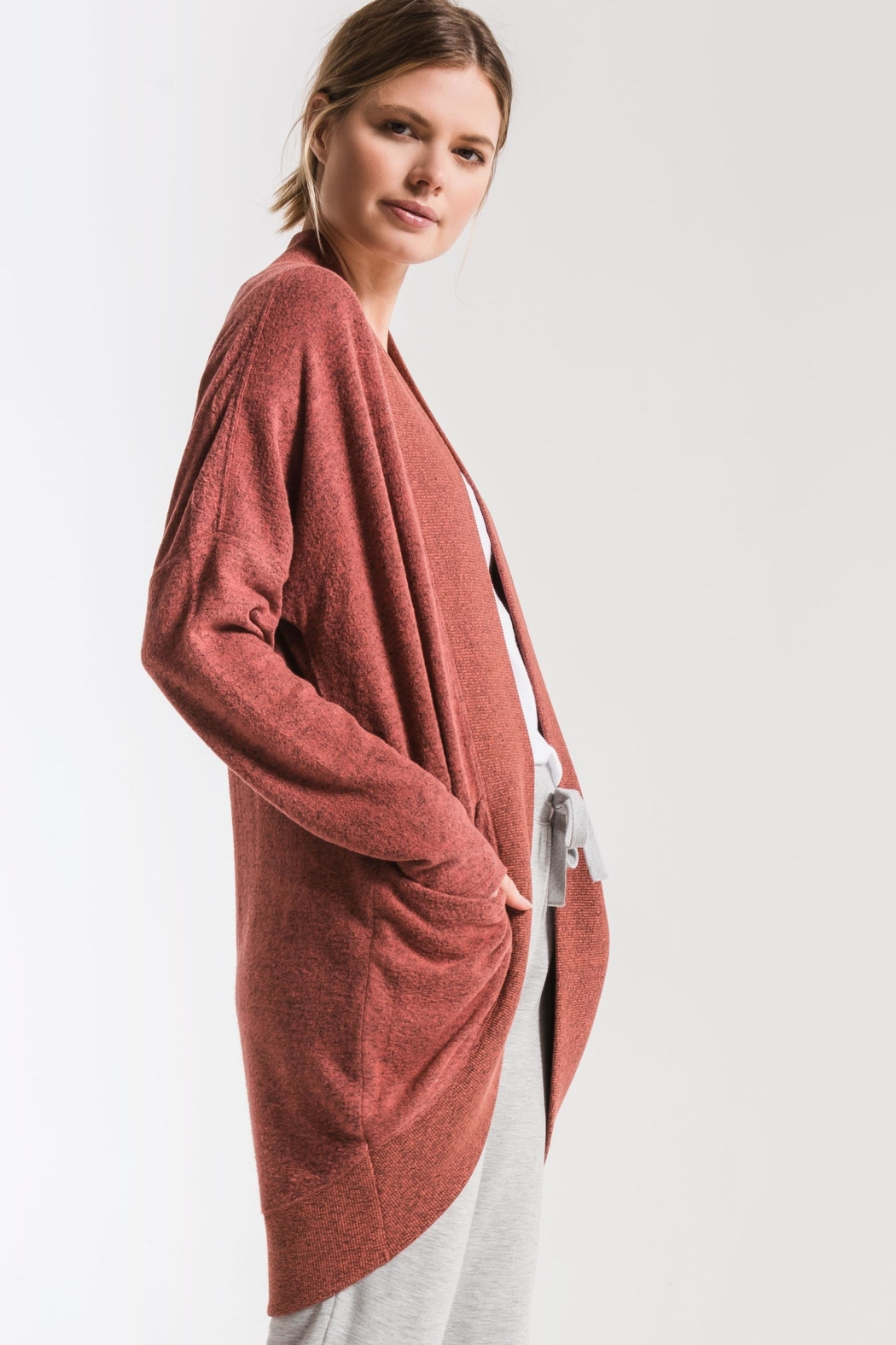 Zsupply Cocoon Marled Cardigan - Side Cropped Image
