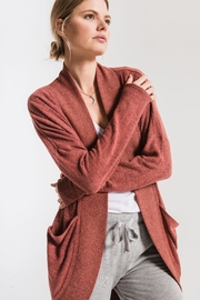 Zsupply Cocoon Marled Cardigan - Back cropped