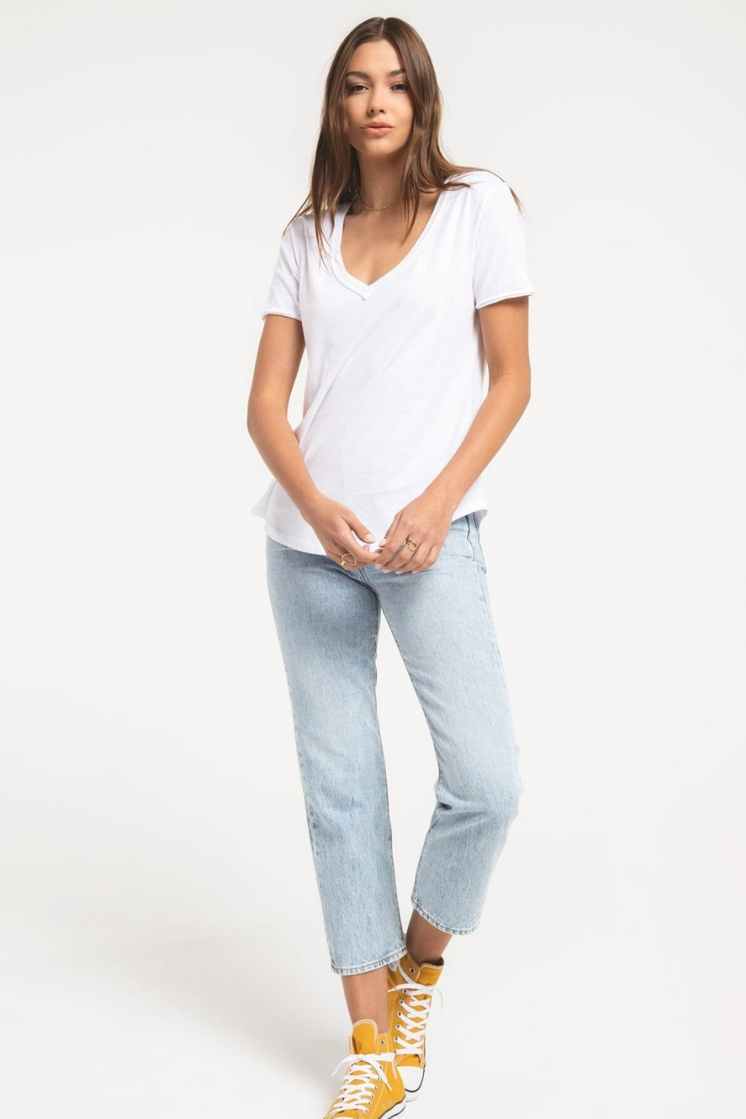 Zsupply Cotton V-Neck Tee - Side Cropped Image