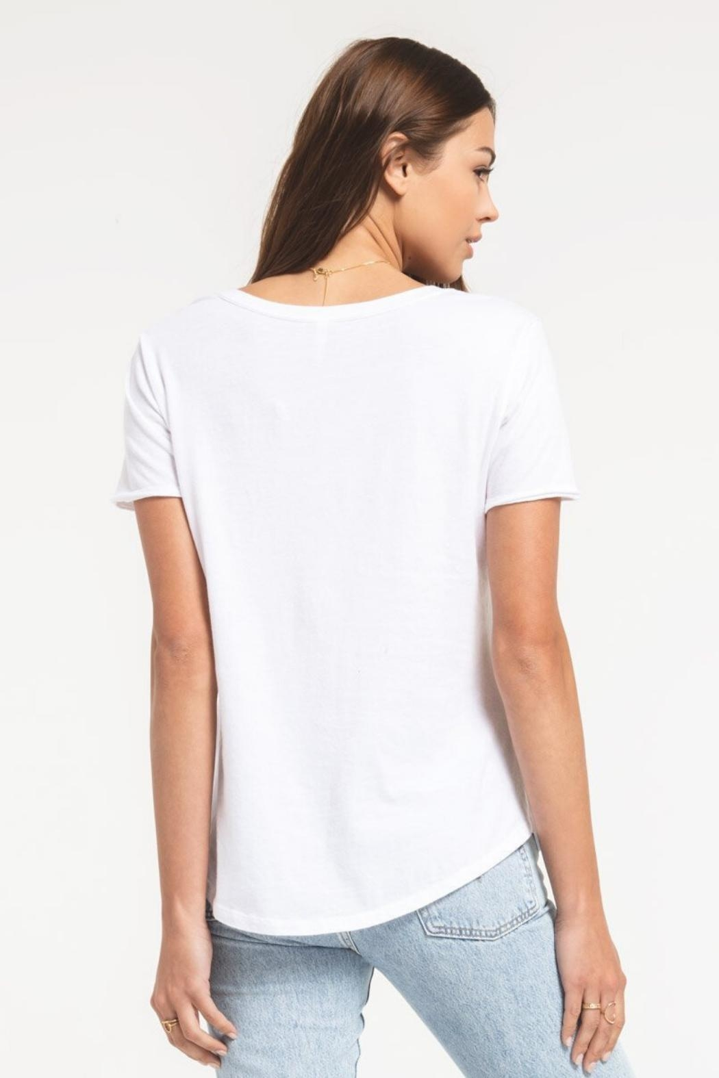 Zsupply Cotton V-Neck Tee - Front Full Image