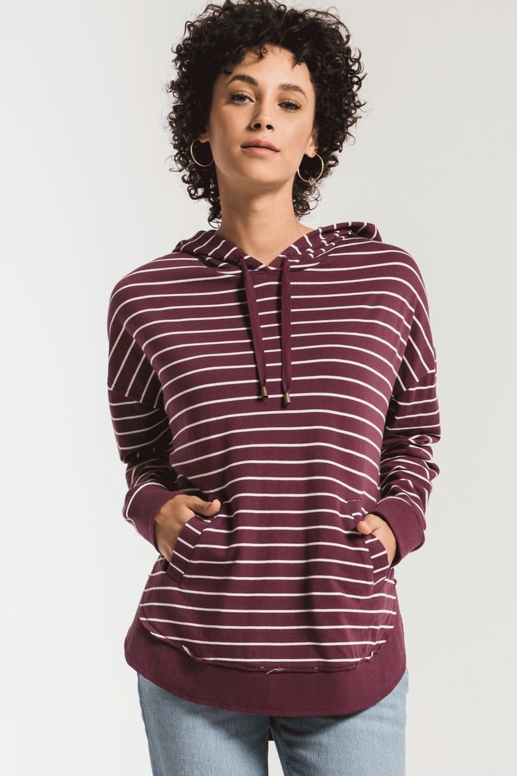 Zsupply Dakota Striped Pullover - Front Cropped Image