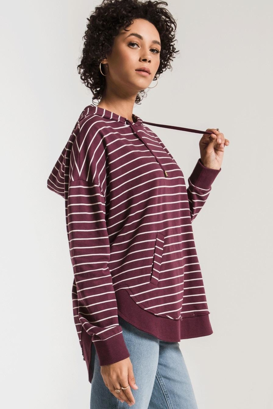 Zsupply Dakota Striped Pullover - Side Cropped Image