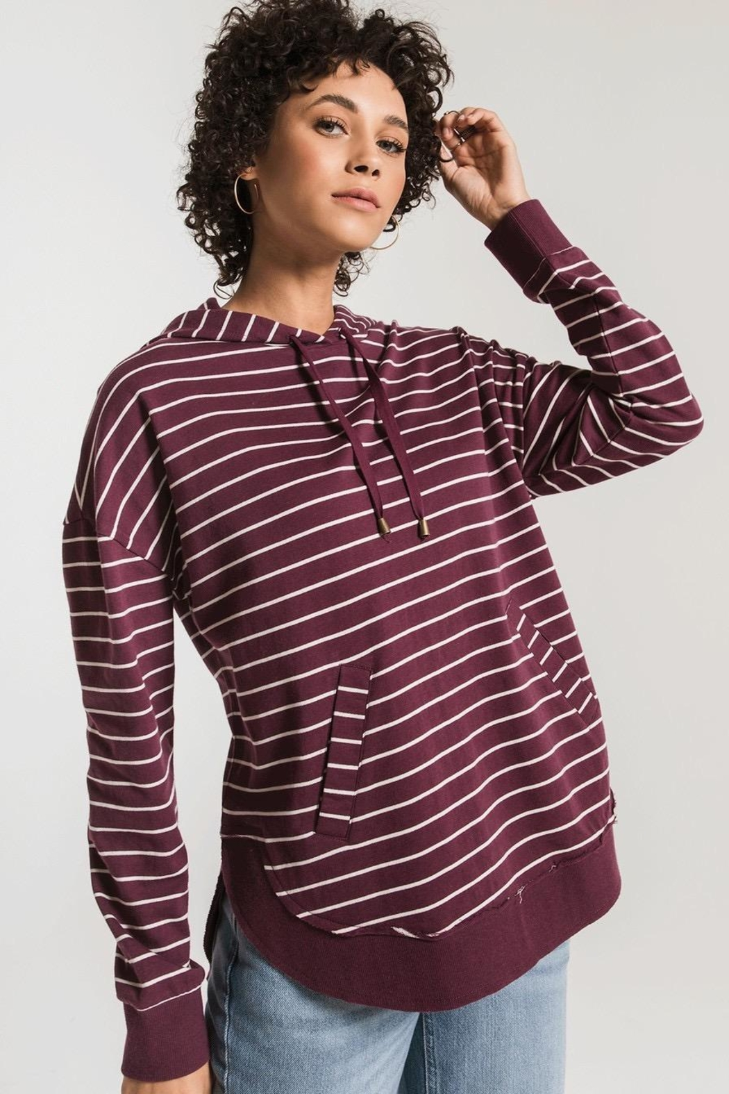 Zsupply Dakota Striped Pullover - Back Cropped Image