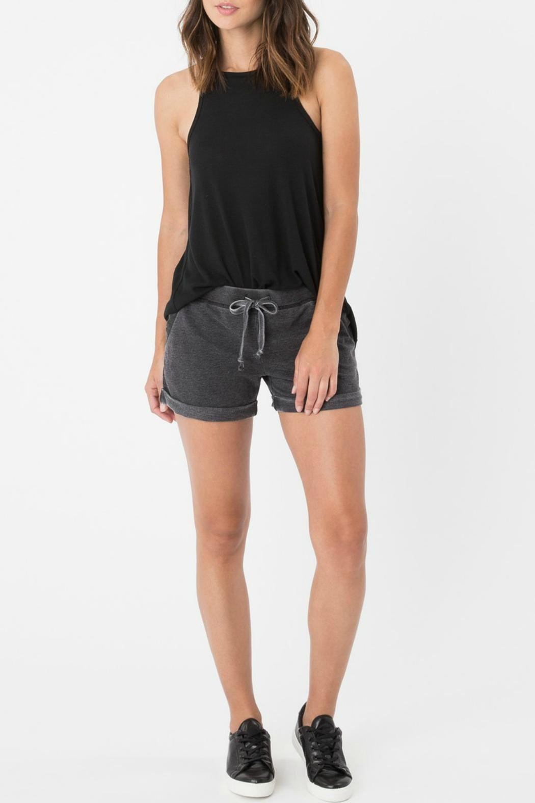 Zsupply Faded Boyfriend Short - Back Cropped Image