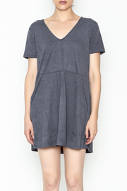 Zsupply Faux Suede Shift Dress - Front full body
