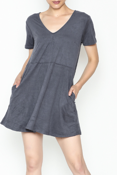 Zsupply Faux Suede Shift Dress - Product List Image