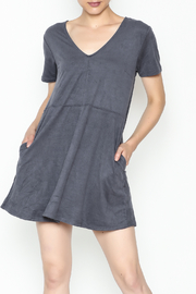 Zsupply Faux Suede Shift Dress - Product Mini Image