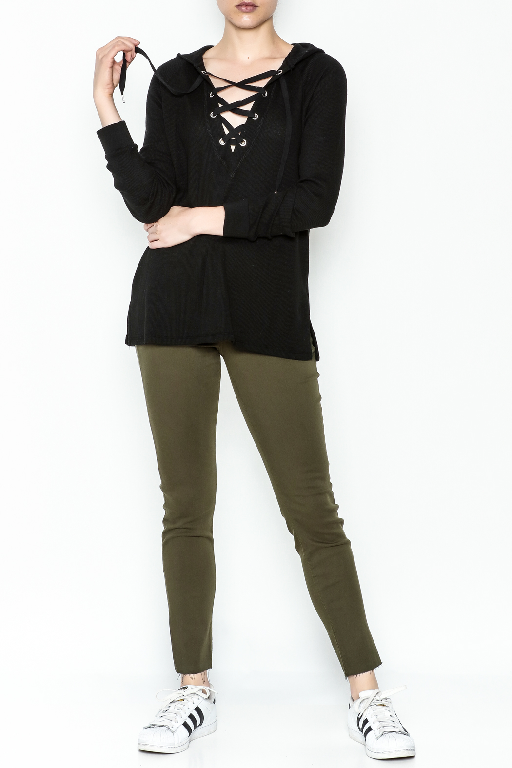 Zsupply Hooded Thermal Top - Side Cropped Image
