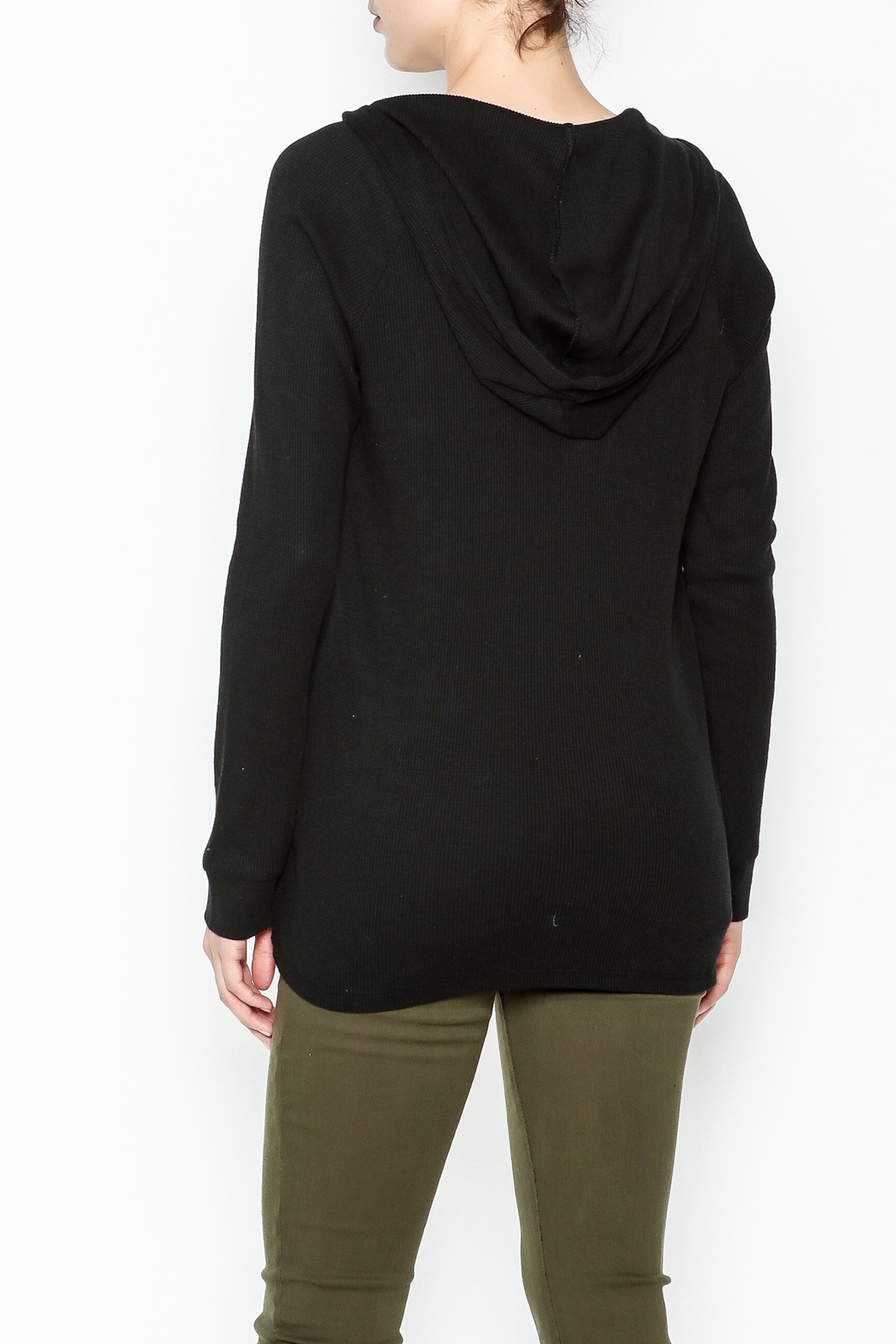 Zsupply Hooded Thermal Top - Back Cropped Image
