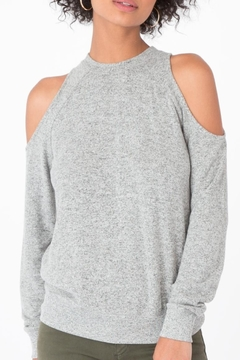Zsupply Marled Cold Shoulder Top - Product List Image