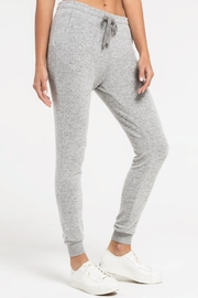 Zsupply Marled Jogger, Heather Gray - Back cropped