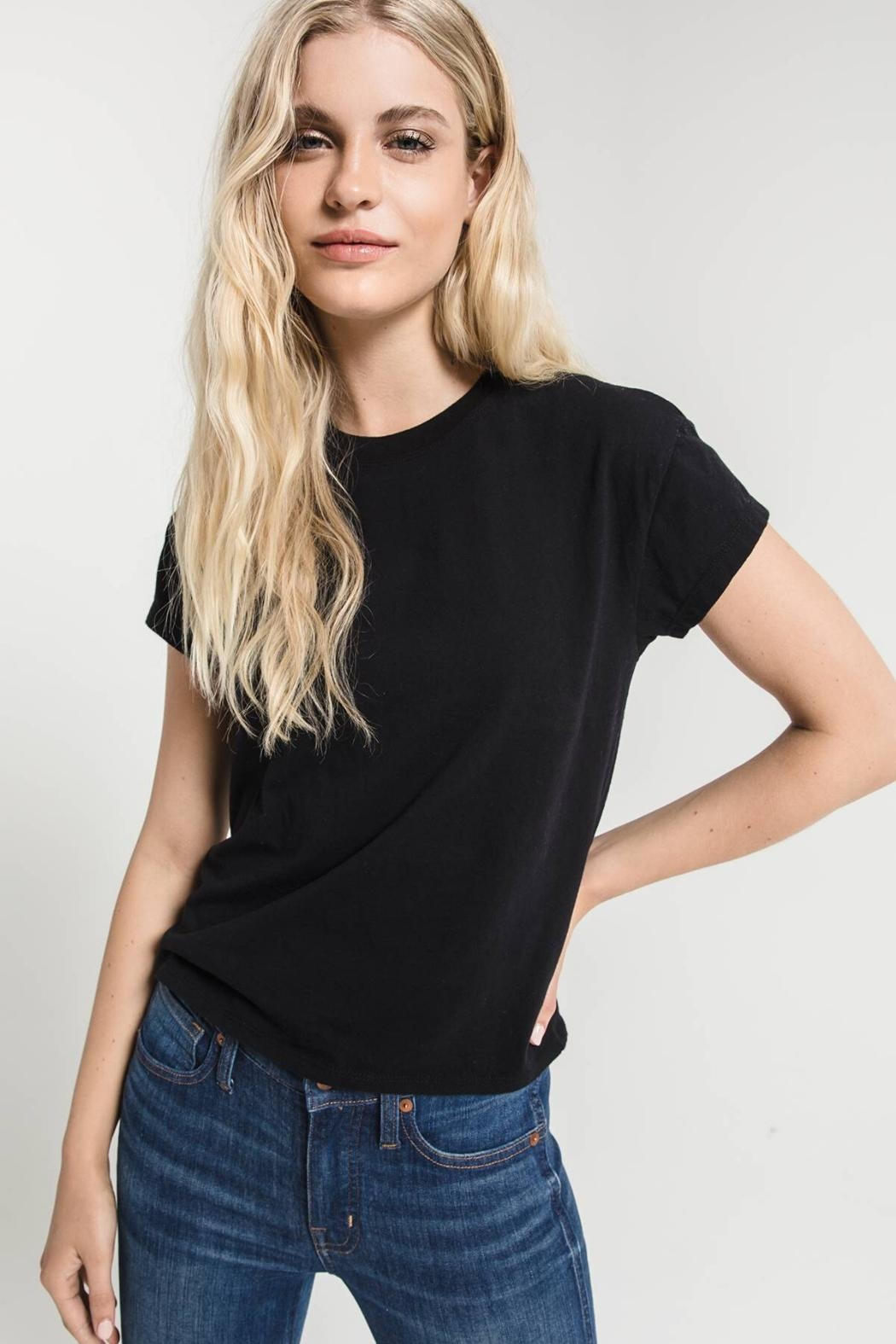 Zsupply Modern Crew-Tee, Black - Front Cropped Image