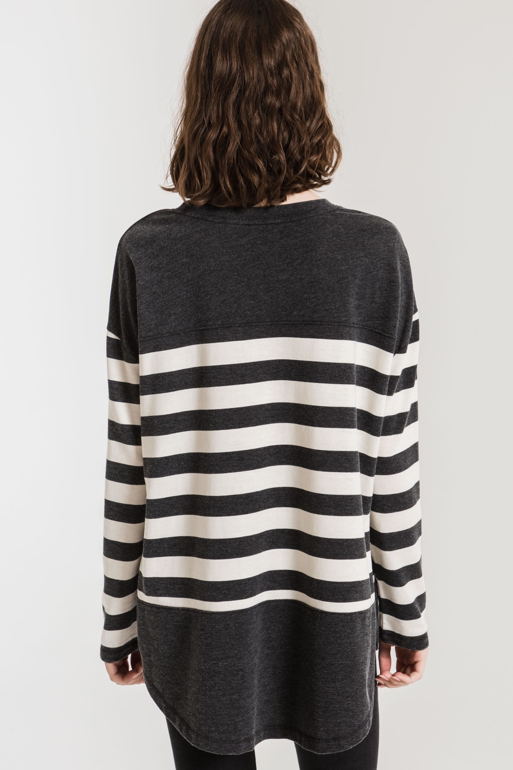 Zsupply Mordern Stripe Crew - Side Cropped Image