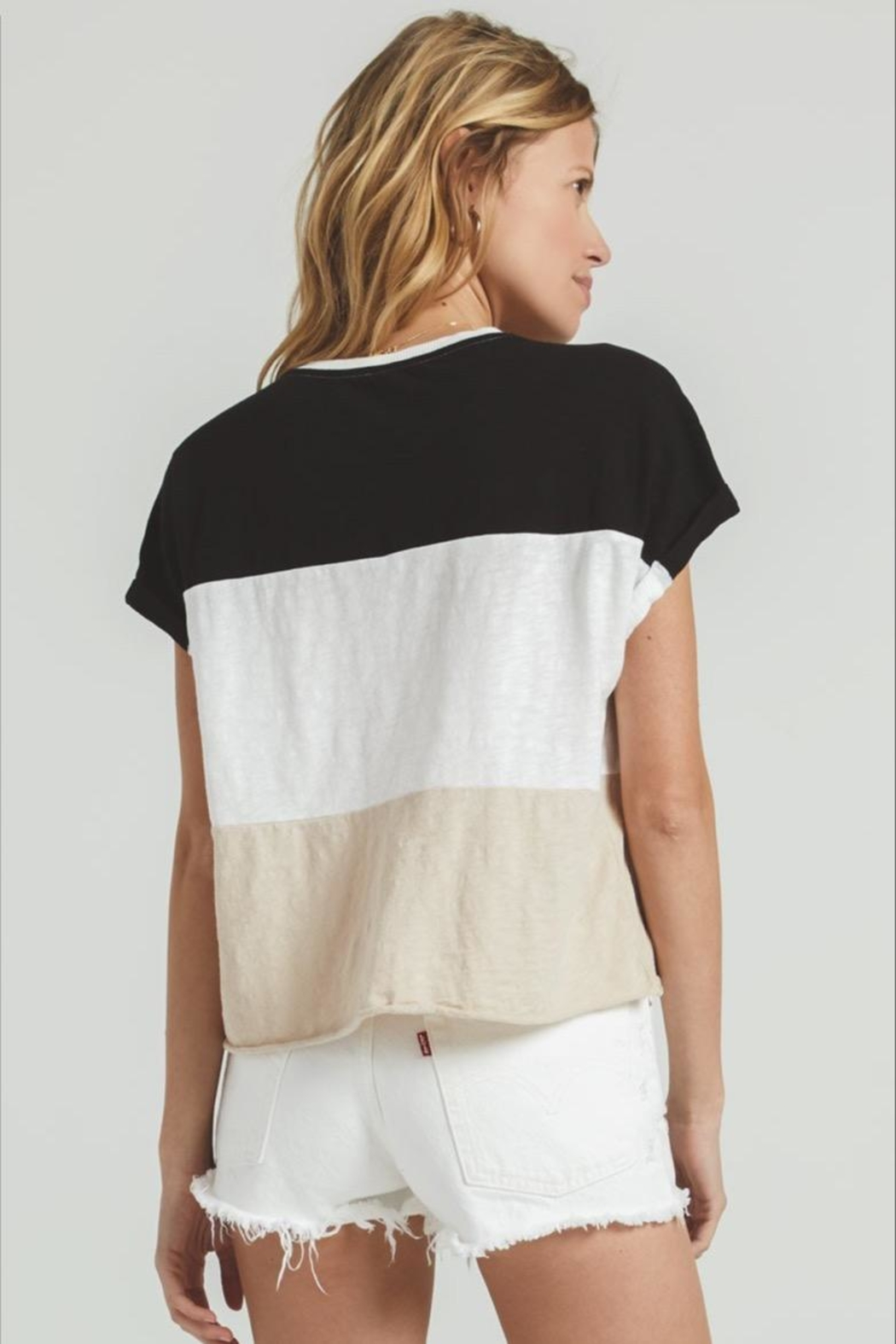 Zsupply Napali Stripe Tee - Side Cropped Image