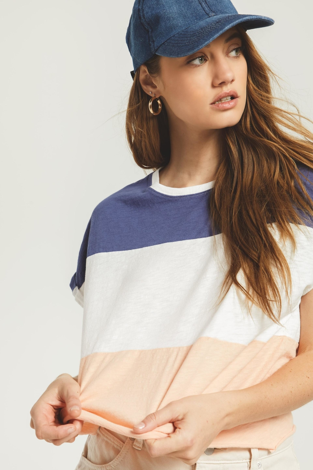 Zsupply Napali Stripe Tee - Back Cropped Image