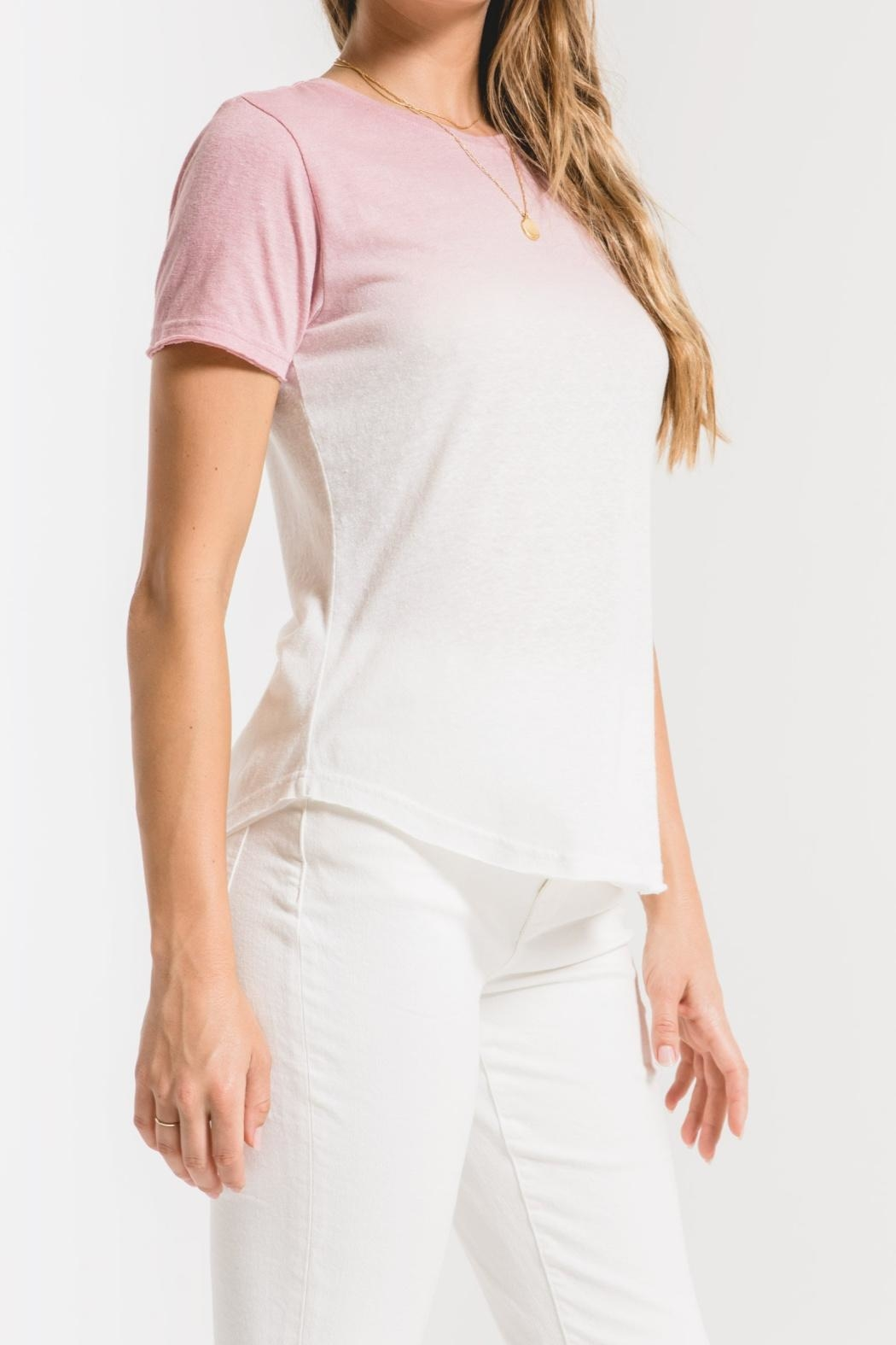 Z Supply  Ombre Dipdye Tee - Back Cropped Image