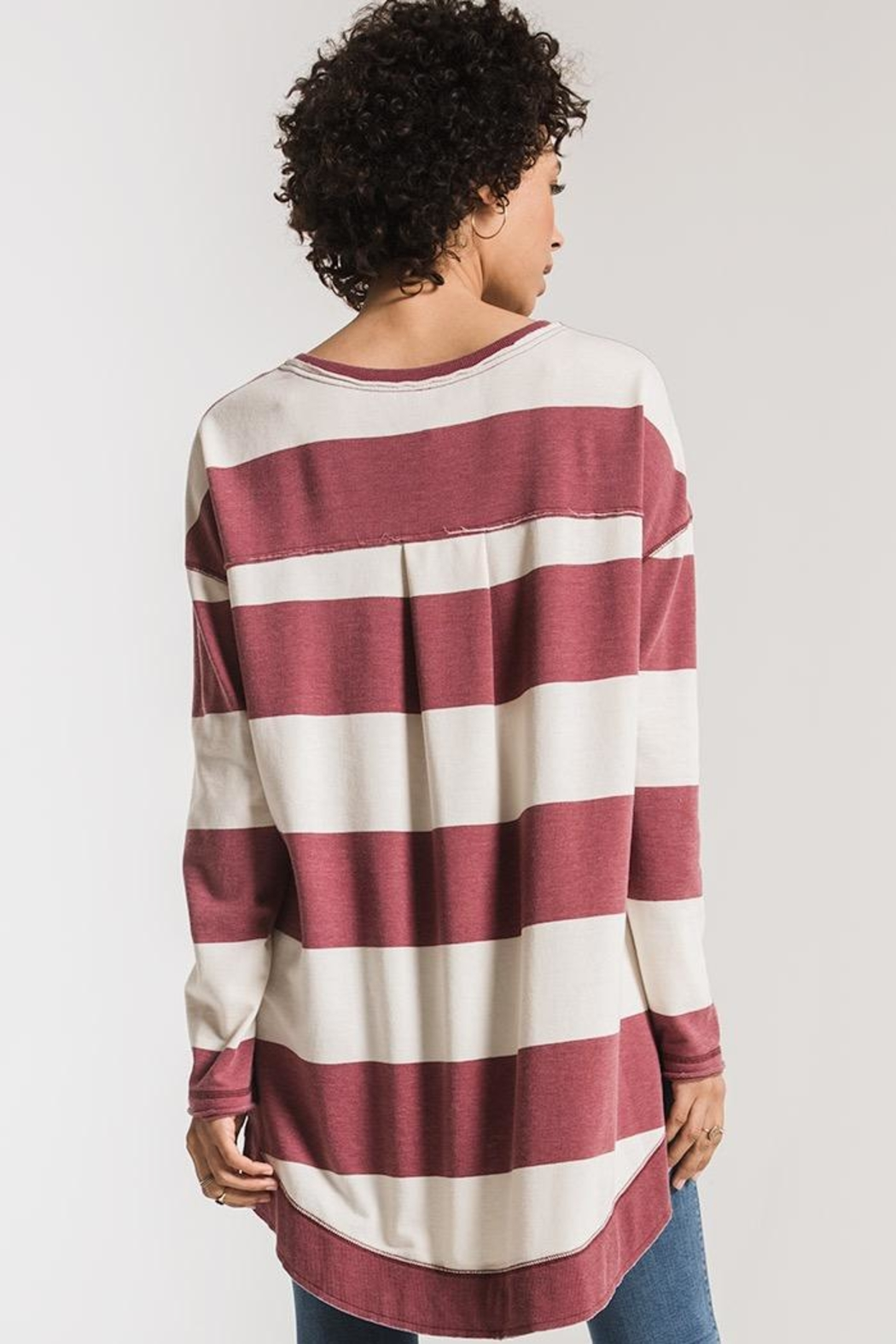 Zsupply Rugby Stripe Weekender - Front Full Image