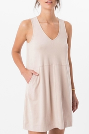 Zsupply Suede V-Neck Dress - Product Mini Image