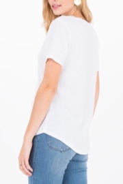 Zsupply The V-Neck Tee-White - Front full body