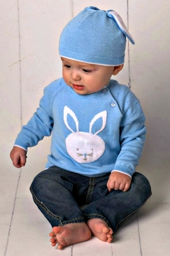 Shoptiques Product: Baby-Boy Blue-Knit-Bunny Sweater