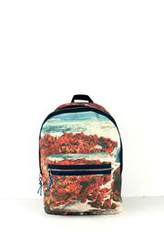 zubi Printed Canvas Backpack - Product Mini Image