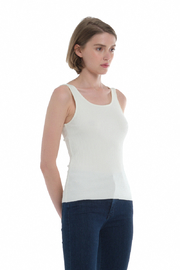Comune Zuma Rib Scoop Neck Tank - Front full body