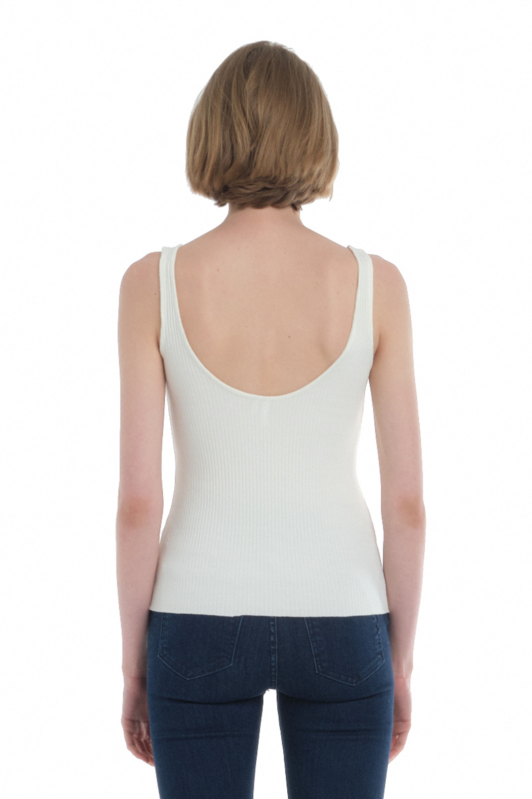 Comune Zuma Rib Scoop Neck Tank - Side Cropped Image