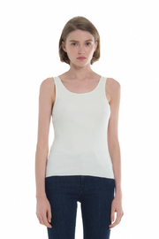 Comune Zuma Rib Scoop Neck Tank - Front cropped