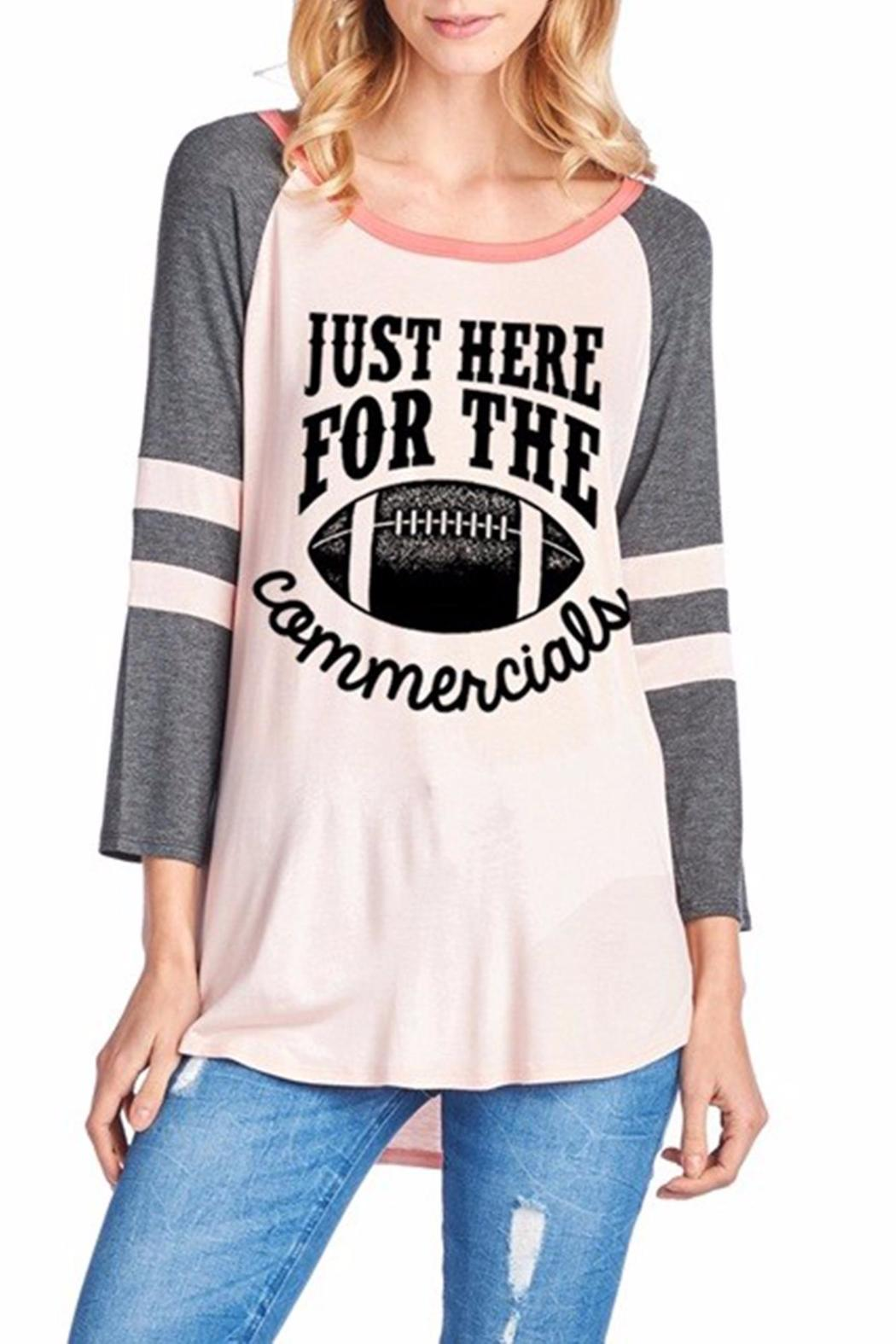 Zutter Football Commercials Top - Front Cropped Image