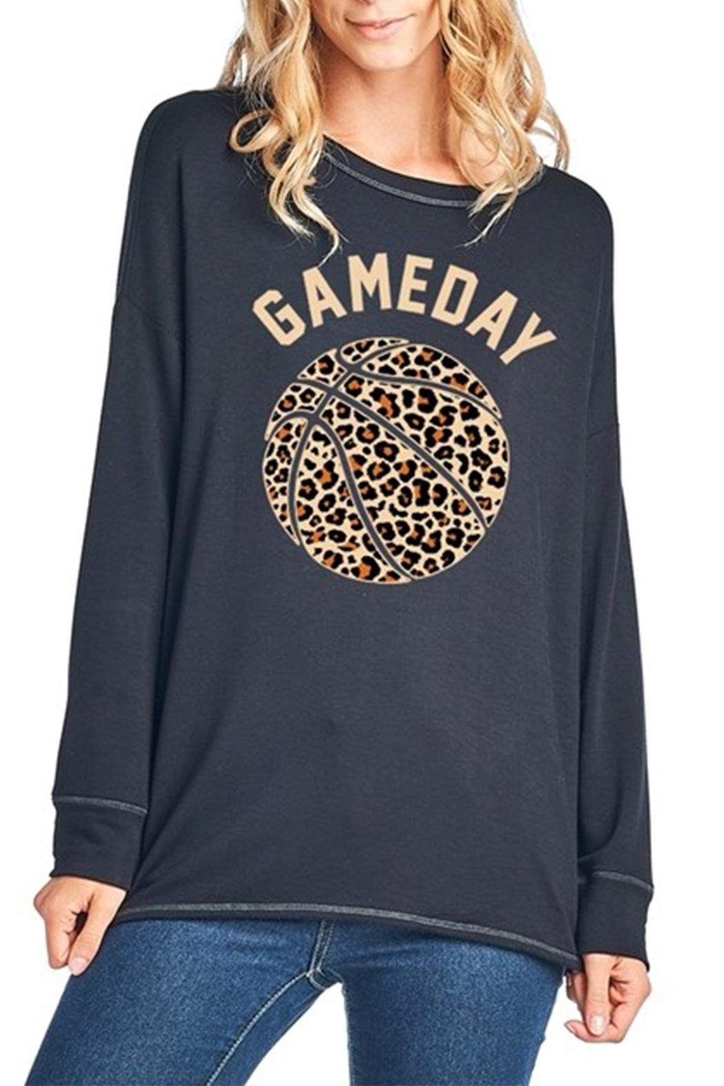 Zutter Leopard Basketball Tee - Front Cropped Image