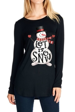 Shoptiques Product: Snowman Christmas Top