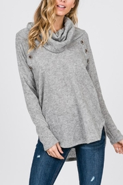 Zutter Turtle Neck Top - Front cropped