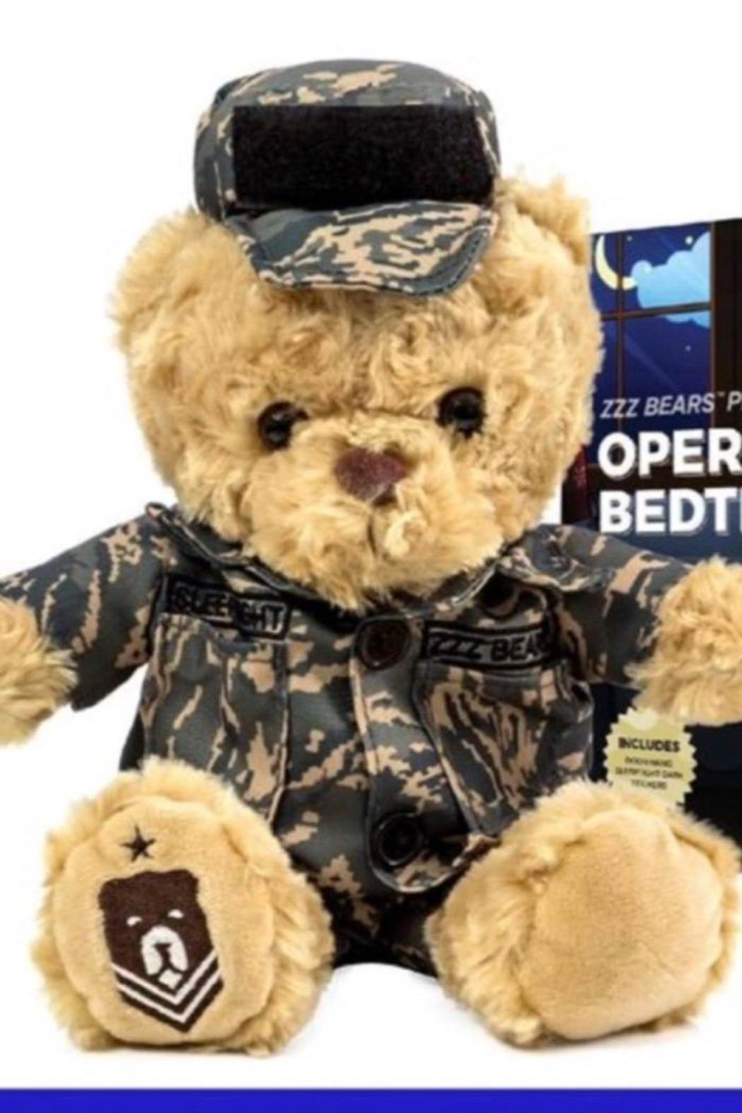 ZZZ Bears Airman Sleeptight Air Force Teddy Bear With Sleep System + Storybook - Main Image
