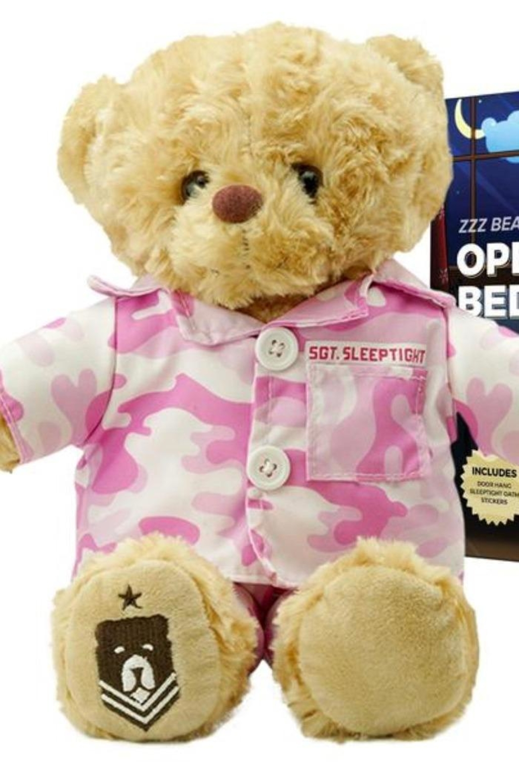 ZZZ Bears Sgt. Sleeptight Pink Camouflage Pjs With Sleep System And Storybook - Main Image